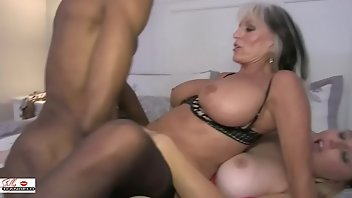 High Heels Cumshot Blonde Interracial