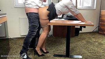 Secretary Stockings Blonde MILF