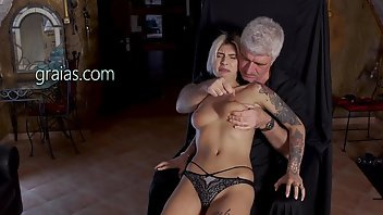 Whipping Blonde Babe BDSM