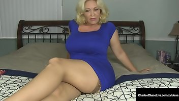 Vibrator Stockings Cum Blonde