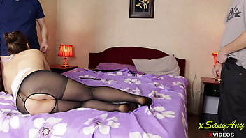Nylon Threesome Pantyhose Feet