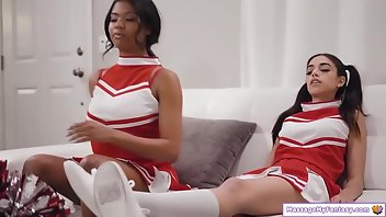 Cheerleader Lesbian Latina Masturbation Kissing