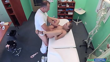 Doctor Cumshot Blonde Creampie