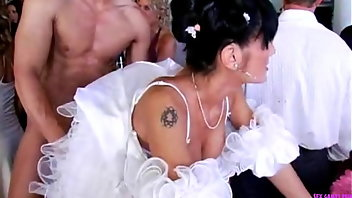 Wedding Cumshot Facial Blowjob