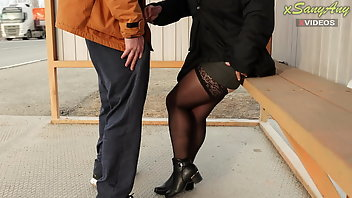 Pantyhose Public Flashing